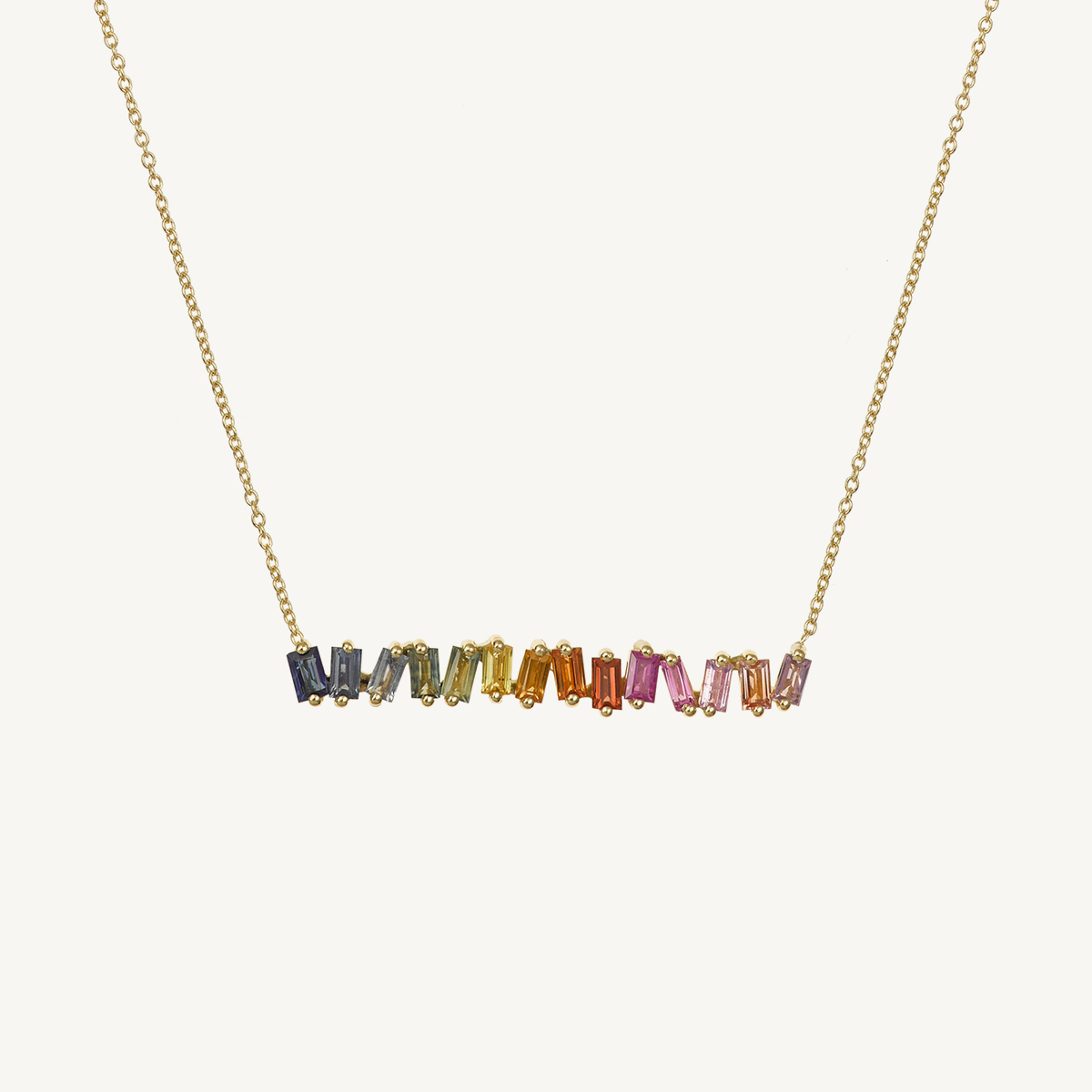 Necklace rainbow in yellow gold