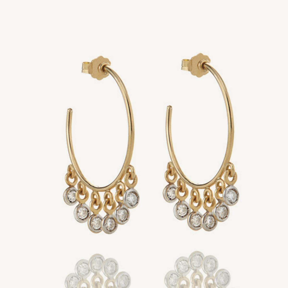 Earrings Hoola Hoops in yellow gold (SM)