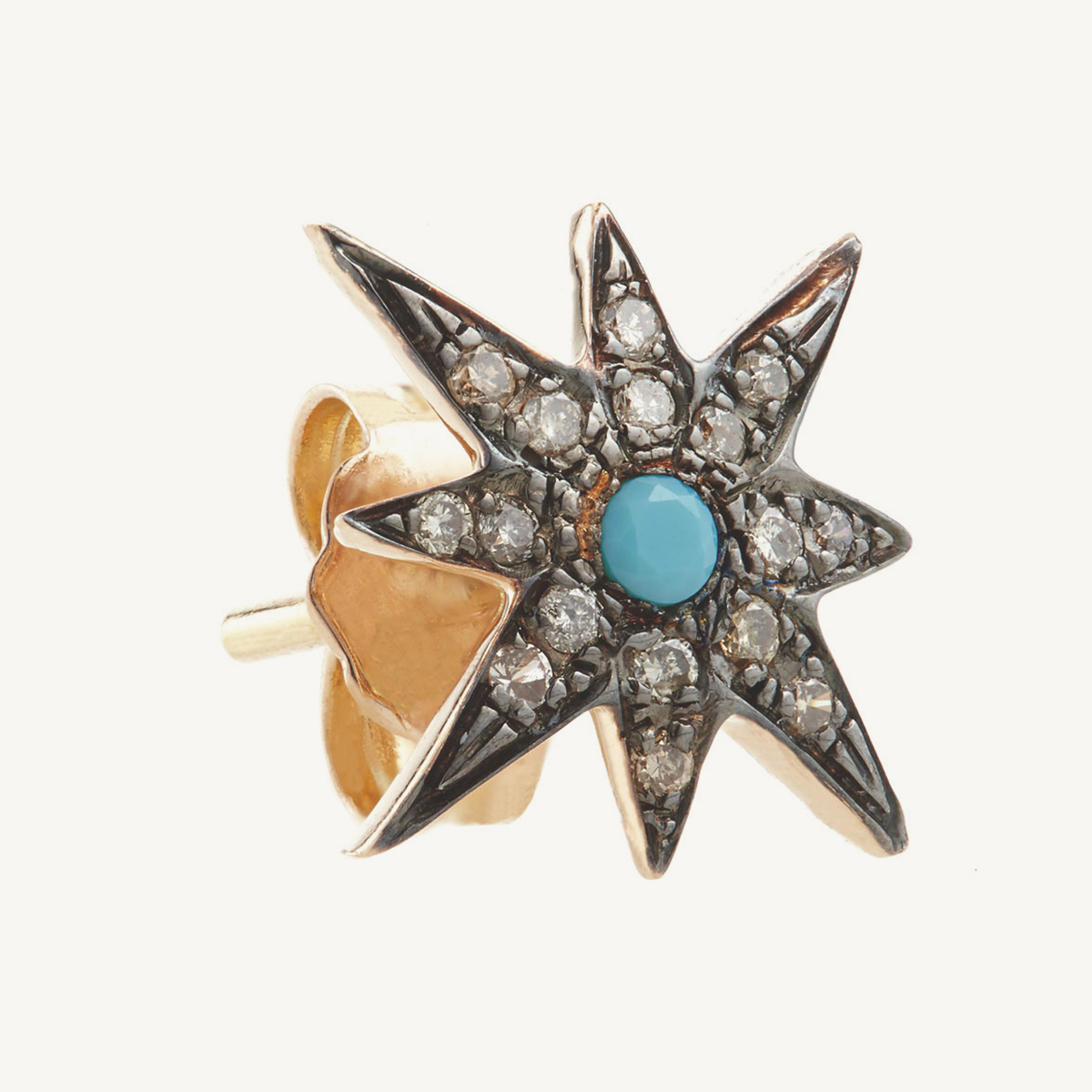 Earring Compass Star Stud