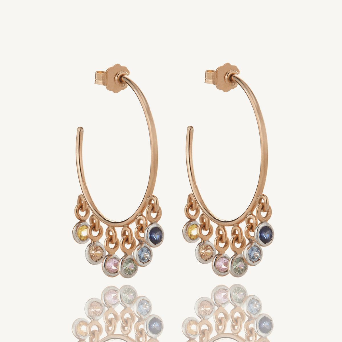 Earrings Hoola Hoops in rose gold (SM)