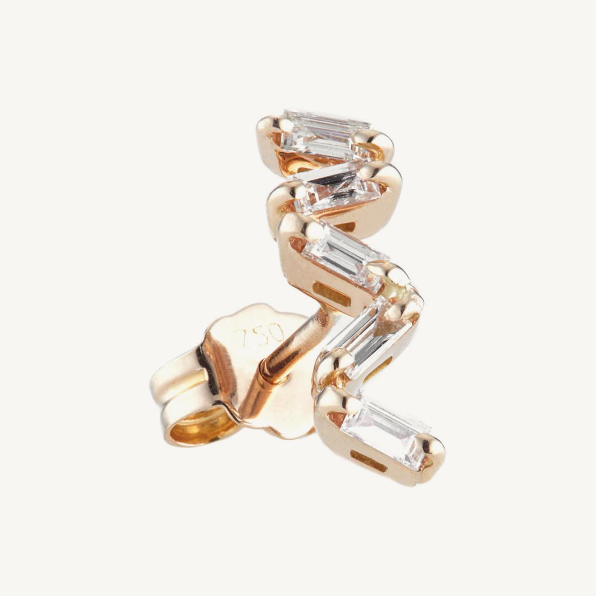 Earrings Oryx in rose gold (SM)