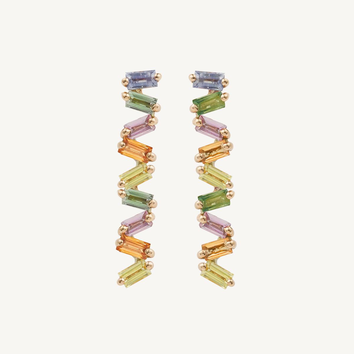 Earrings Rainbow in rose gold (BM)