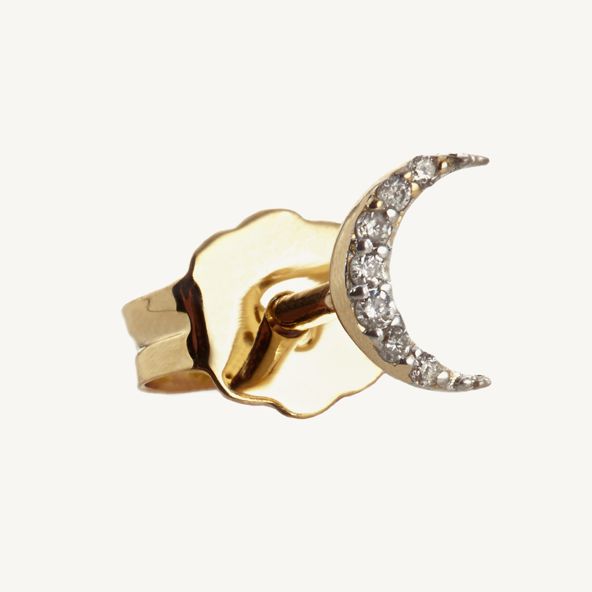 Earring Moon Stud in rose gold