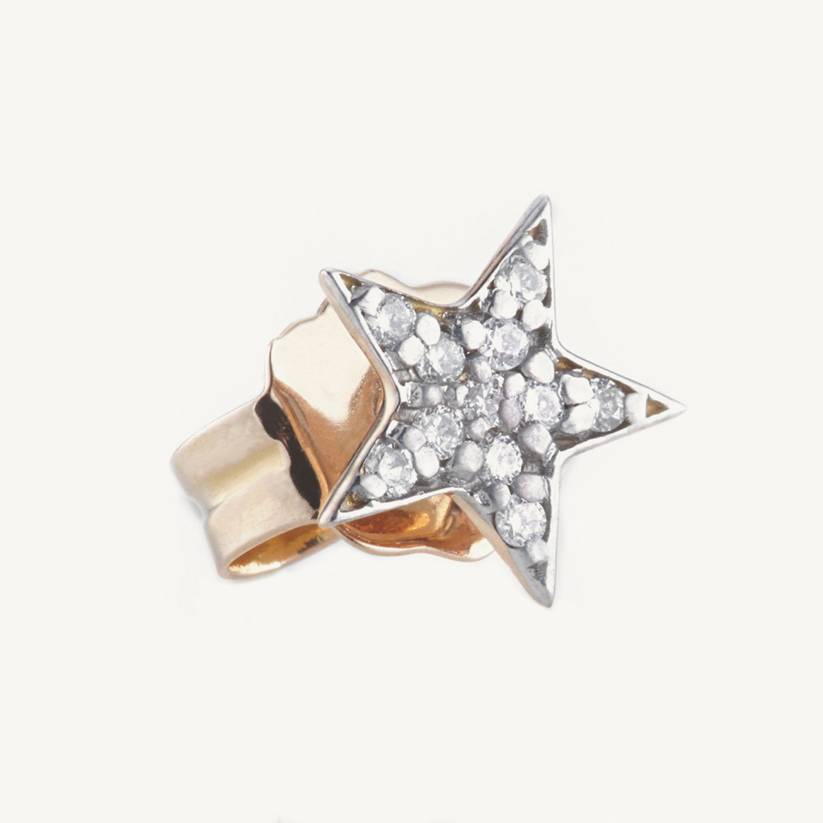 Earring Star Stud in rose gold