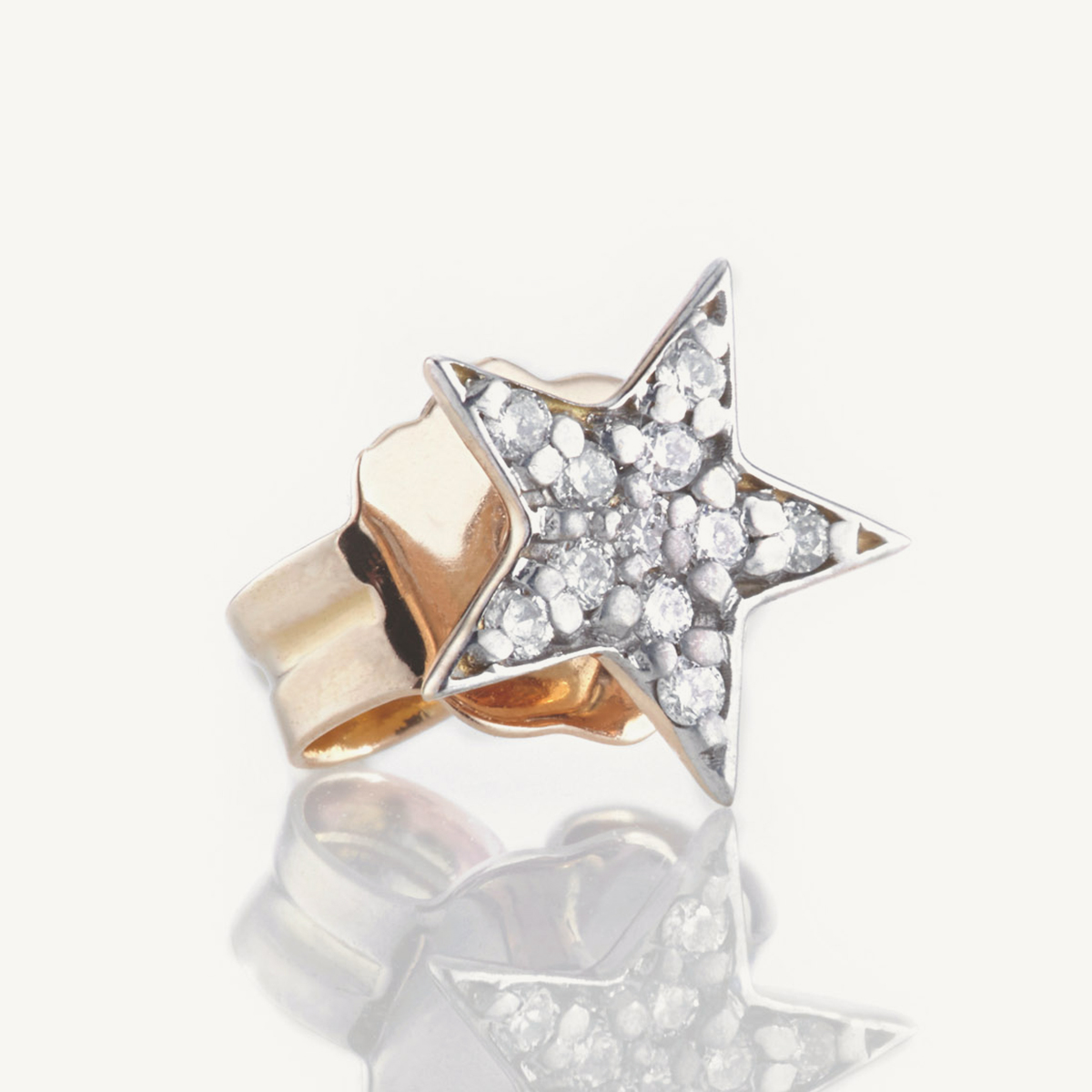 Earring Star Stud in rose gold