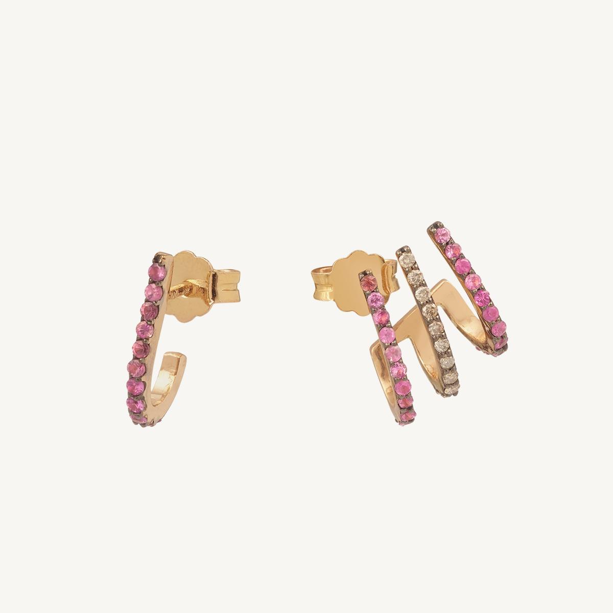 Earrings Tridevi Pink