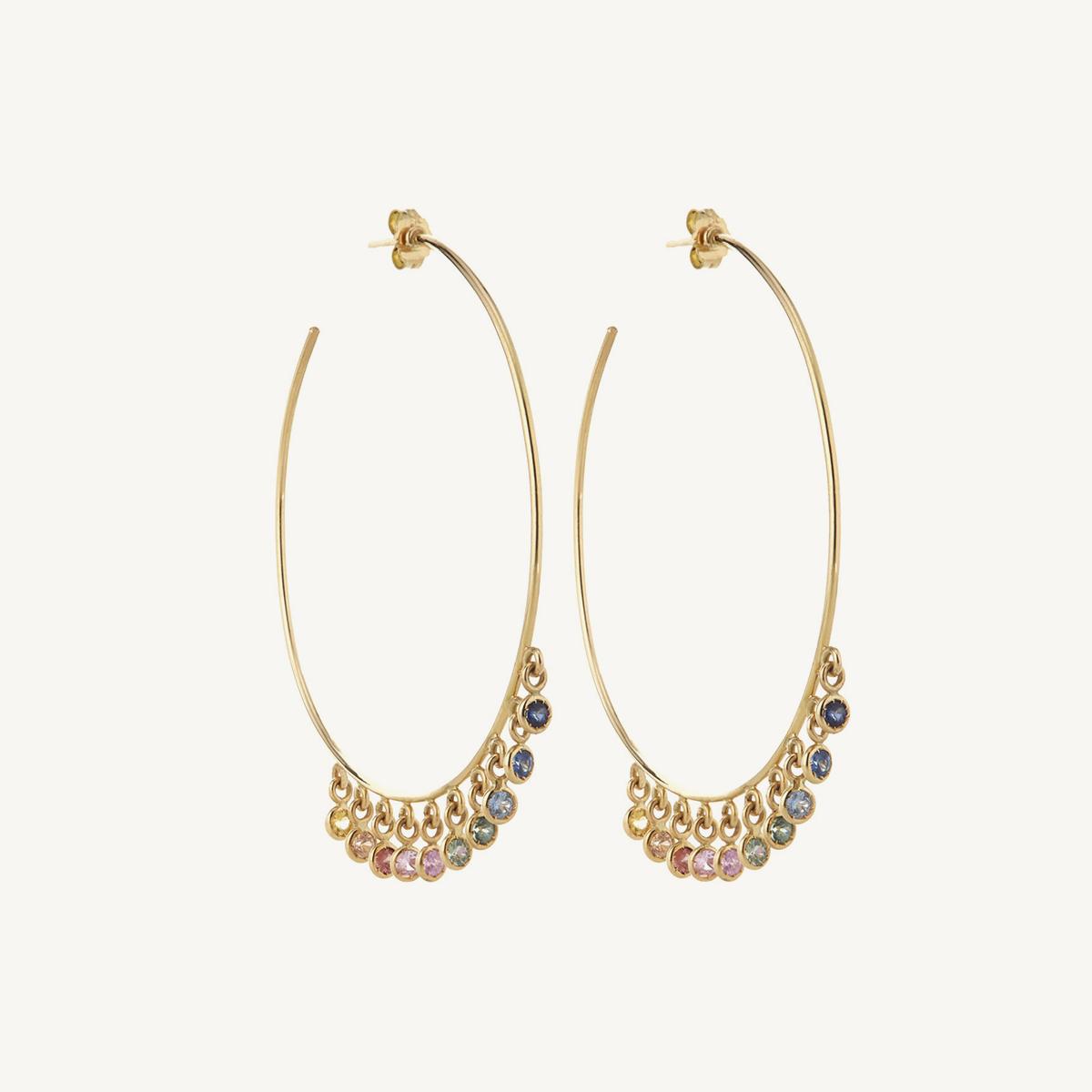 Earrings Hoola Hoops in yellow gold (BM)