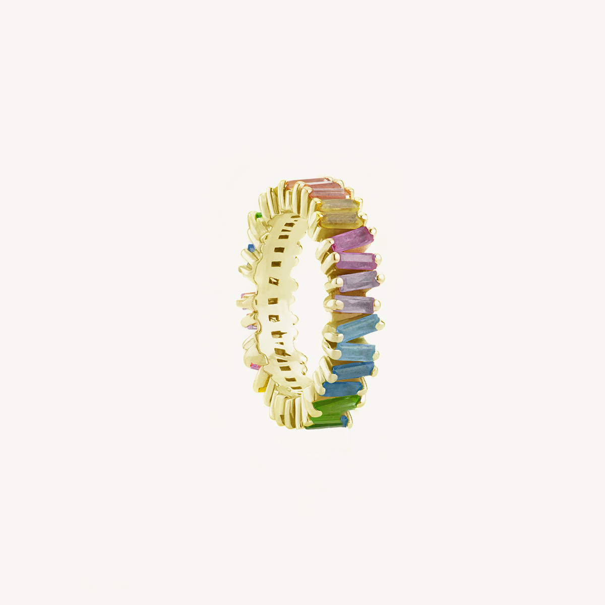 Ring Rainbow in yellow gold