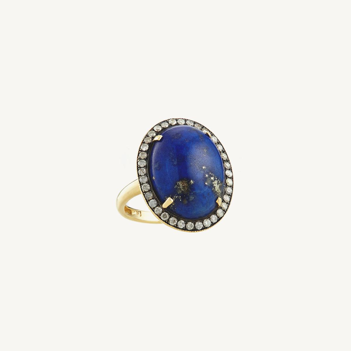 Ring Tarot with Lapis-Lazuli