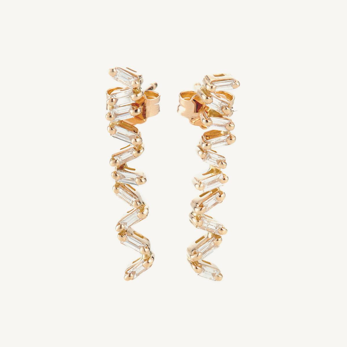 Earrings Oryx in rose gold (BM)