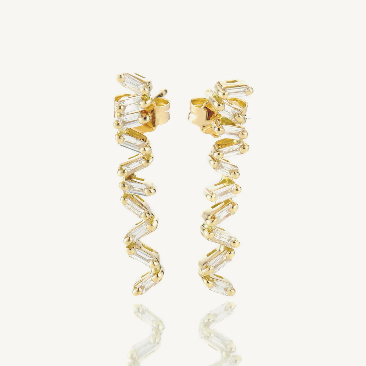 Earrings Oryx in yellow gold (BM)