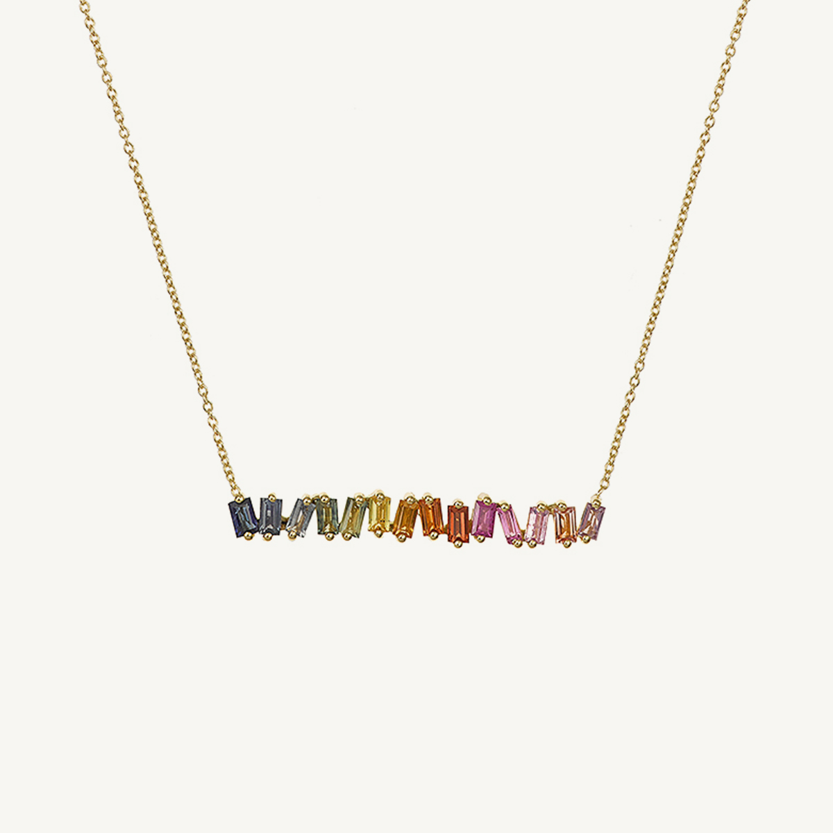 Necklace rainbow in rose gold