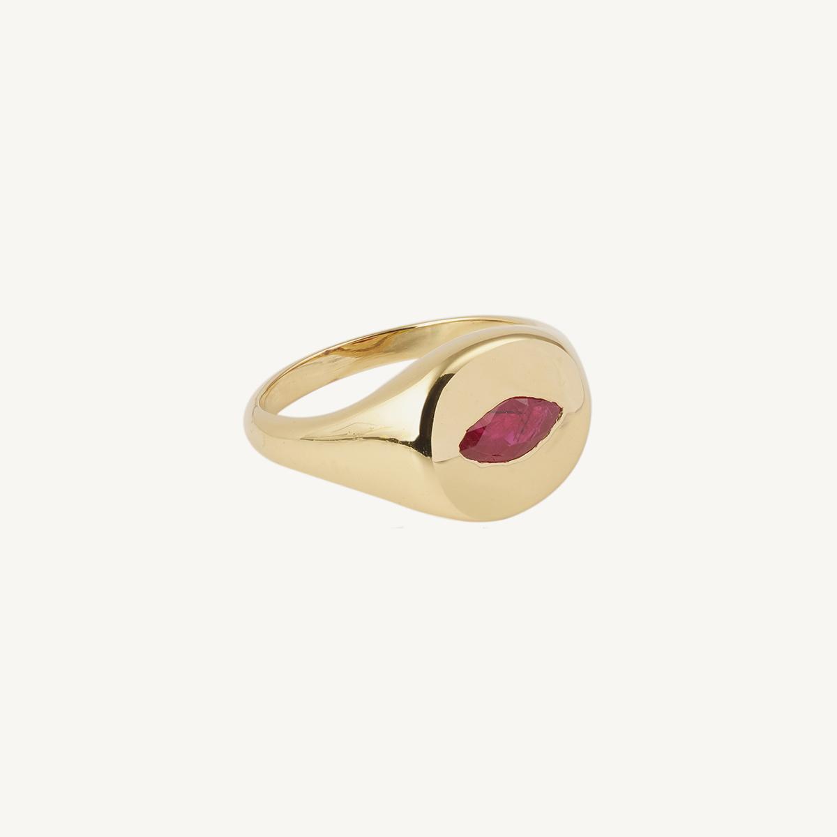 Ring Red Rose Petal